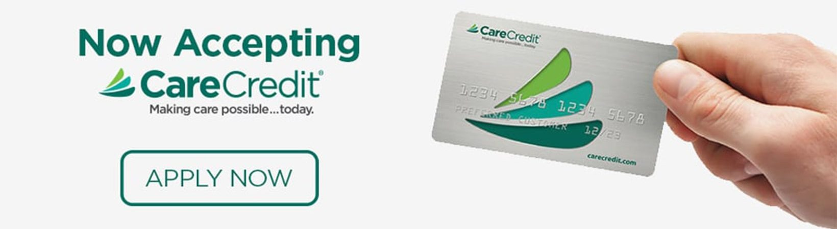 A close up of a CareCredit card