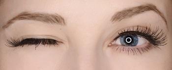 skin, face, person, contact lens